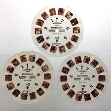 Lot of 3 Superman 3D View Master Slides Stereo Reels Q643