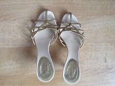 Gucci kitten heel summer sandals , Leather, Gold,size 4UK, EU 35C