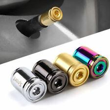 4x Titanium Anti-theft Car Tire Valve Cap Aluminum Sport Exterior Auto Air BOD