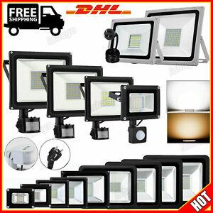 LED Fluter Außen Strahler mit Bewegungsmelder Stecker 10W 20W 30W 50W 100W 500W