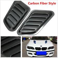 2Pcs Car Hood Fender Decorative Air Flow Intake Scoop Bonnet Vent Cover Sticker