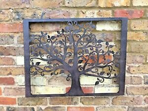Tree of Life Wall Art Garden Ornament Patio Metal Gift Present Quirky Rectangle