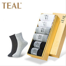 6 Pairs Mens Anti-Bacterial and Deodorant Formal/Causal Socks with Box 3 colors