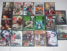 17 DVD Lot Horror Zombies Masters of Terror Gore House American Horror Stories