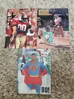 1990 1991 1994  Beckett Football Card Monthly Lot Bo Jackson Superman 7 10 47