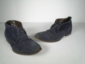 Hugo Boss Mens Suede Shearling Chukka Ankle Boots US 9.5 Lace Up Shoes