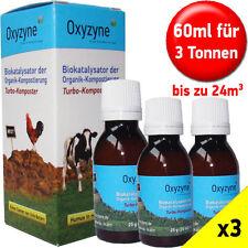 Oxyzyne x3 Pack organischer Kompostbeschleuniger Humusbildner bis 3t / 24m³