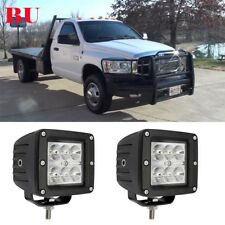 """Dodge Chassis Cab Pickups Pair 3X3"""" Led Work Light pods Offroad Driving Fog Cube"""