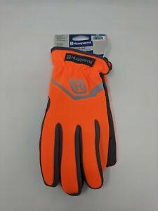 Men's Husqvarna Easy On/Off Mechanix Wear Gloves, Size M - Orange/Grey