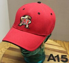 MARYLAND TERRAPINS HAT RED EMBROIDERED STRAPBACK ADJUSTABLE EXCELLENT COND A15
