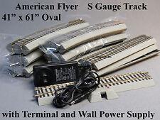 "LIONEL AM FLYER S GAUGE FASTRACK OVAL FLYERCHIEF 2 rail w/roadbed 41"" X 61"" NEW"