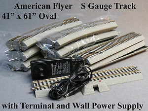 """LIONEL AMERICAN FLYER S GAUGE FASTRACK OVAL TRACK SET FLYERCHIEF 41"""" X 61"""" NEW"""