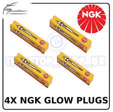 NGK New Glow Plugs Saab Vauxhall/Opel 4x (3703) Y-523J Y523J