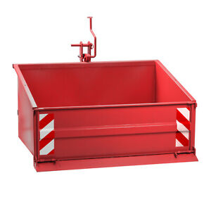 Traktor Heckcontainer Heckmulde Transportcontainer Mulde Container 120 cm rot