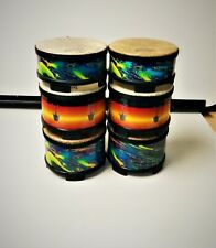 """Lot Of 6 Remo World Percussion Finger Drums FG Series 2"""" x 5"""" And 3"""" x 5"""""""