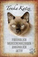Tonka Gato Cat Letrero de Metal Arqueado Metal Tin Sign 20 X 30CM