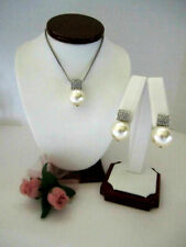 "Brighton ""MERIDIAN"" Pearl Pendant Necklace-Earring Set (MSR$102) NWT/Pouch"