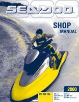 Sea-Doo 2000, GS, GSX, XP, GTI, GTX, RFI Shop Repair Manual 219100104 Free S&H