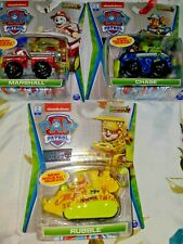 3 PAW PATROL True Metal Jungle Rescue MARSHALL, CHASE, RUBBLE,New Sets,BOX SHIP