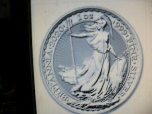 2020 1oz Silver Britannia 1 ounce Silver Bullion Coin unc