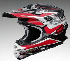 SHOEI VFX-W TURMOIL TC1 RED MX MOTOCROSS RACE SPEC MOTORCYCLE OFF ROAD HELMET