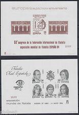 PRUEBAS DE LUJO EDIFIL Nº 6/7 MISMA NUMERACION - ESPAÑA ´84 - AÑO 1984
