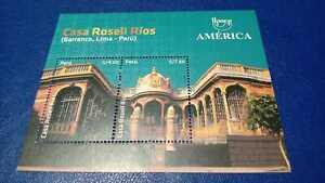 PERU: 2021  America Upaep  Souvenir Sheet Stamps  +  Sent Via Air Mail Cover