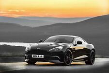 Aston Martin V12 Vantage - 30x20 pouces toile-Encadrée Photo Art Imprimé