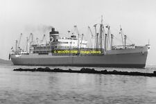 mc0435 - Blue Star Line Cargo Ship - Argentina Star , built 1947 - photograph