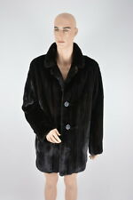 REAL MENS FUR MINK COAT BLACKGLAMA MINKCOAT SIZE XL - XXL  FURJACKET FURCOAT
