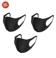 Mundschutz Maske 3er Nano Gesichtsmaske Waschbar Wiederverwendbar Schwarz