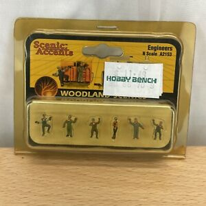 Woodland Scenics A2153 Engineers N Scale Figures