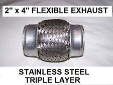 Woven Flex exhaust pipe flexible repair  50mm 2 in inch id volkswagen + thousand