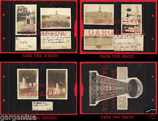 NIKOLA TESLA POWER PLANT EMPTY RUINS! 1919 VINTAGE PHOTO LOT on 2 ALBUM PAGES!