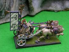WARHAMMER AGE OF SIGMAR HIGH ELF WHITE LIONS OF CHRACE LION CHARIOT #1 PAINTED