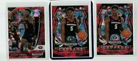 2020 PANINI PRIZM DRAFT ANTHONY EDWARDS RC RED Cracked Ice Refractor Lot of 3