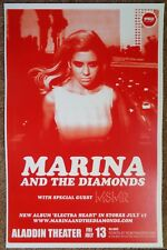 MARINA AND THE DIAMONDS 2012 Gig POSTER Portland Oregon Concert
