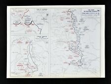 West Point WWII Map Battle Siege of Leningrad Russia Finland German Campaign
