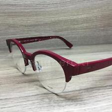Jimmy Choo 151 Eyeglasses Pink Red Glittered QA1 Authentic 47mm