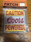 Vintage Swiss Brand Coors Powered Embroidered Patch Beer Barware NOS