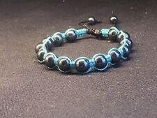 mm Hematite Beaded Bracelet! New Handmade Teal N 8
