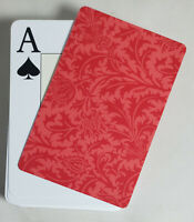 Red Stiff Formal Design Cut Cards Poker Wide Size 2 PCS