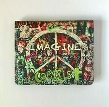 Imagine wallet Coexist graffiti Leather Wallet Credit Card Holder Peace sign