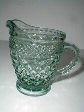 Anchor Hocking Glass Green WEXFORD Creamer