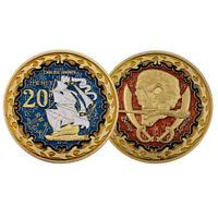 Creative Souvenir Coin Pirate Ship Augustine Herman In Memory Metal Coin