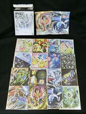 Pokemon Shikishi Art Sumie-Looking Art Part 2 Complete Set (16) Japanese
