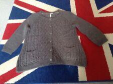 White Stuff Grey Wool Alpaca 3/4 Sleeve Cardigan Size 14