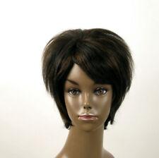 perruque afro femme 100% cheveux naturel méchée noir/cuivré KITTY 03/1b30