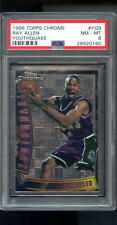 1996-97 Topps Chrome Youthquake Ray Allen ROOKIE RC NBA NM-MT PSA 8 Graded Card