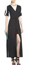"$298 BCBG BLACK COMBO ""LUCIENNE"" LONG SLEEVE LONG DRESS GOWN NWT XS"